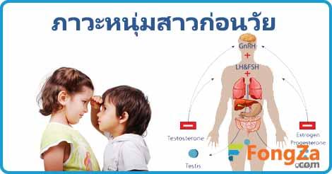 ภาวะเป็นหนุ่มสาวก่อนวัย โรคเด็ก สุขภาพ ลูกหยุดสูง